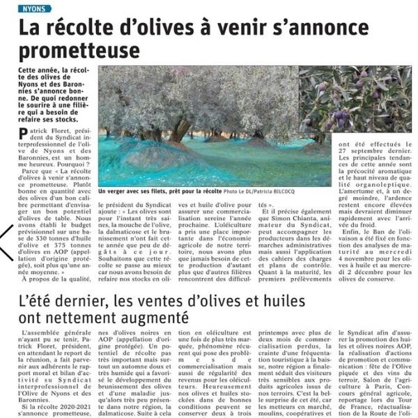 LDL article récolte 09 11 20